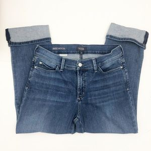 NYDJ Dayla Wide Cuff Capri Jeans Size 10